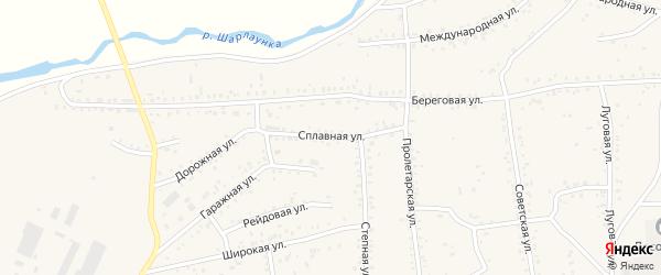 Сплавная улица на карте Онохого поселка с номерами домов