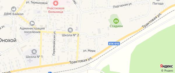 Улица Мира на карте Онохого поселка Бурятии с номерами домов