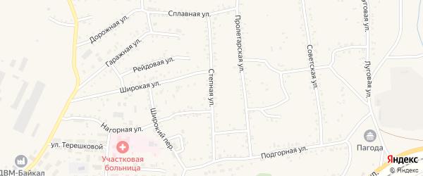 Степная улица на карте Онохого поселка Бурятии с номерами домов