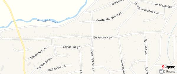 Береговая улица на карте Онохого поселка Бурятии с номерами домов
