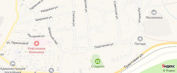 Пролетарский переулок на карте Онохого поселка Бурятии с номерами домов