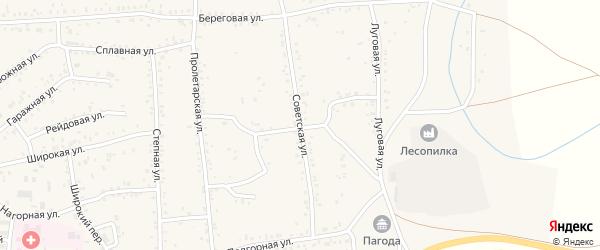 Советская улица на карте Онохого поселка Бурятии с номерами домов