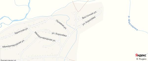 Улица Королева на карте Онохого поселка Бурятии с номерами домов