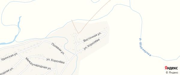 Восточная улица на карте Онохого поселка Бурятии с номерами домов
