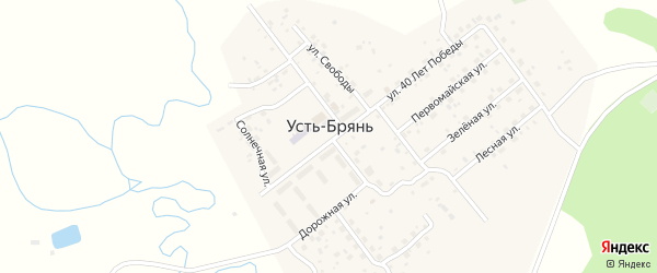 Дачный переулок на карте села Усть-Брянь Бурятии с номерами домов