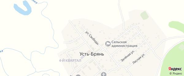 Улица Свободы на карте села Усть-Брянь с номерами домов