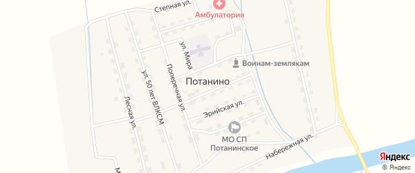 Нагорная улица на карте поселка Потанино с номерами домов