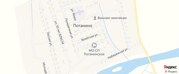 Эрийская улица на карте поселка Потанино с номерами домов