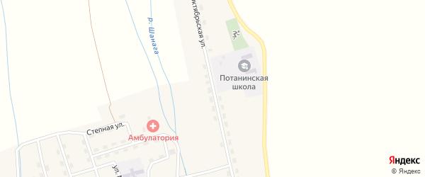 Октябрьская улица на карте поселка Потанино с номерами домов