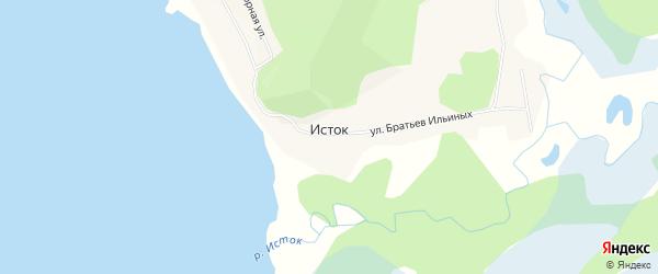 Карта поселка Истока в Бурятии с улицами и номерами домов