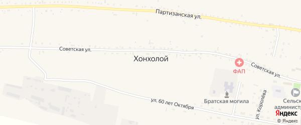 Территория КХ Искра падь Ланкурет на карте села Хонхолоя с номерами домов