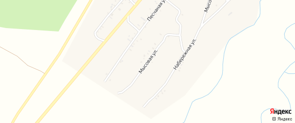 Мысовая улица на карте села Новой Бряни Бурятии с номерами домов