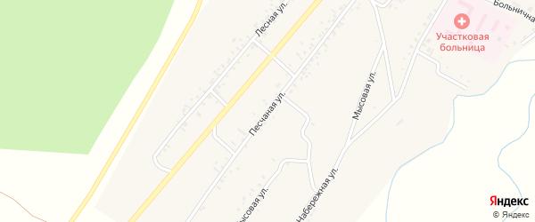 Песчаная улица на карте села Новой Бряни Бурятии с номерами домов