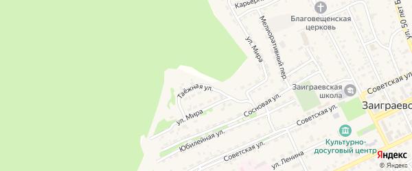 Таежная улица на карте поселка Заиграево с номерами домов