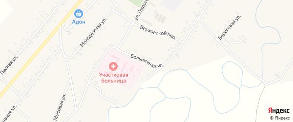 Больничная улица на карте села Новой Бряни Бурятии с номерами домов