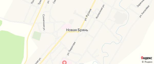 Карта села Новой Бряни в Бурятии с улицами и номерами домов