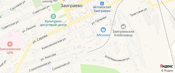 Садовая улица на карте поселка Заиграево с номерами домов