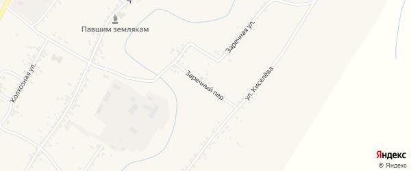 Заречный переулок на карте села Новой Бряни с номерами домов