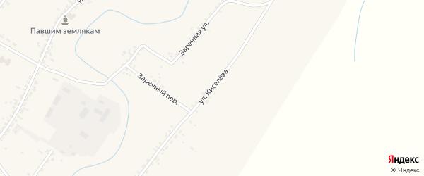Улица Киселева на карте села Новой Бряни Бурятии с номерами домов