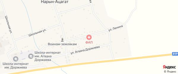 Школьная улица на карте села Нарына-Ацагата с номерами домов