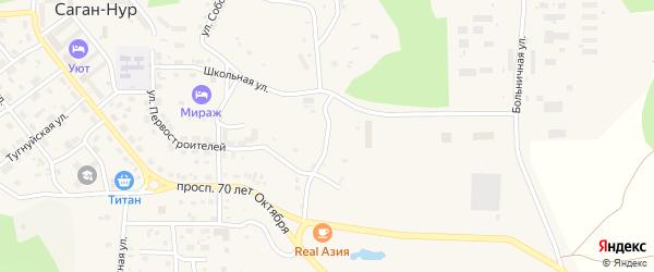 Транспортный переулок на карте поселка Сагана-Нура с номерами домов
