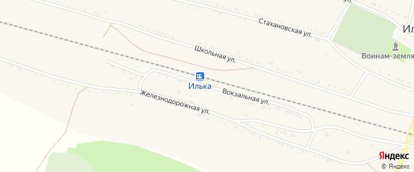 Вокзальная улица на карте села Ильки с номерами домов