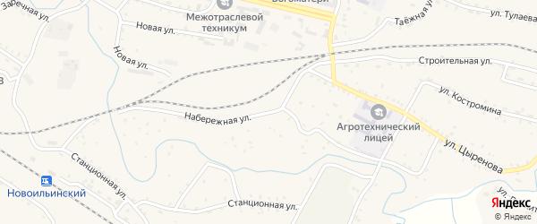Набережная улица на карте села Новоильинска Бурятии с номерами домов