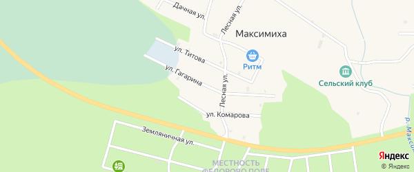 Улица Гагарина на карте села Максимихи Бурятии с номерами домов