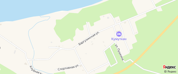 Баргузинская улица на карте села Максимихи Бурятии с номерами домов