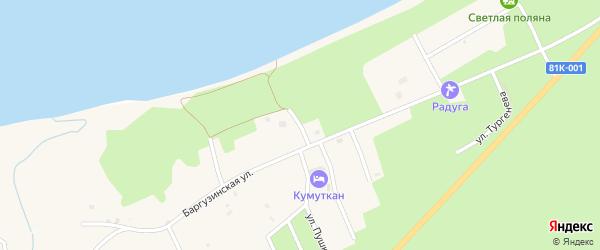 Переулок Юности на карте села Максимихи Бурятии с номерами домов