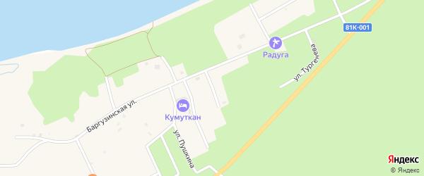 Улица Некрасова на карте села Максимихи Бурятии с номерами домов