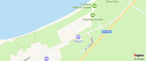 Молодежная улица на карте села Максимихи Бурятии с номерами домов