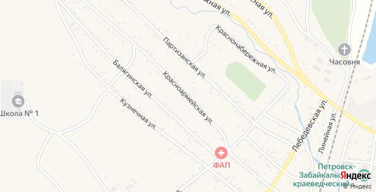 Красноармейская улица в Петровске-Забайкальском с номерами домов на карте. Спутник и схема онлайн