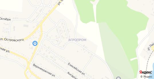 Микрорайон Агропром в Петровске-Забайкальском с номерами домов на карте. Спутник и схема онлайн