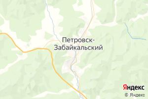 Карта г. Петровск-Забайкальский Забайкальский край