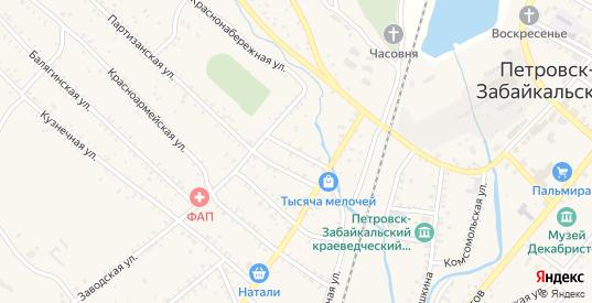 Свободная улица в Петровске-Забайкальском с номерами домов на карте. Спутник и схема онлайн