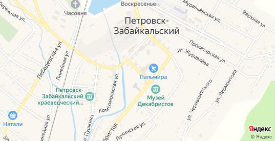 Дамская улица в Петровске-Забайкальском с номерами домов на карте. Спутник и схема онлайн