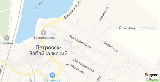 Муравьевская улица в Петровске-Забайкальском с номерами домов на карте. Спутник и схема онлайн