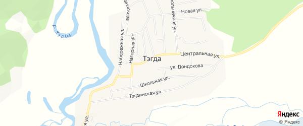 Карта улуса Тэгда в Бурятии с улицами и номерами домов