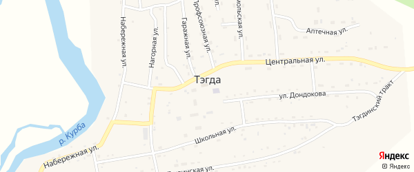 Гаражная улица на карте улуса Тэгда с номерами домов