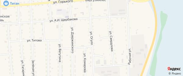 Улица Огуло на карте поселка Усть-баргузина с номерами домов
