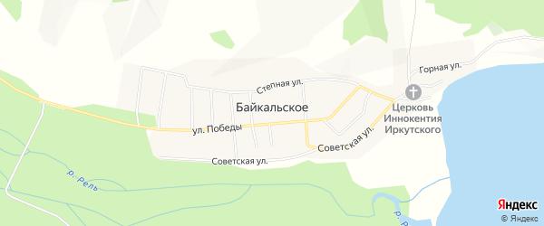 Карта Байкальского села в Бурятии с улицами и номерами домов