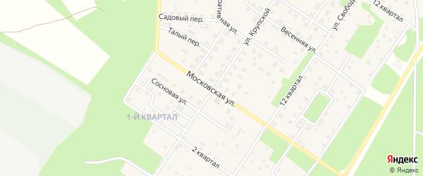 Московская улица на карте Северобайкальска с номерами домов