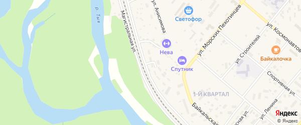 Железнодорожный переулок на карте Северобайкальска с номерами домов
