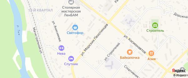 Улица Морских пехотинцев на карте Северобайкальска с номерами домов