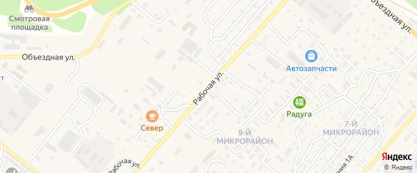 Рабочая улица на карте Северобайкальска с номерами домов