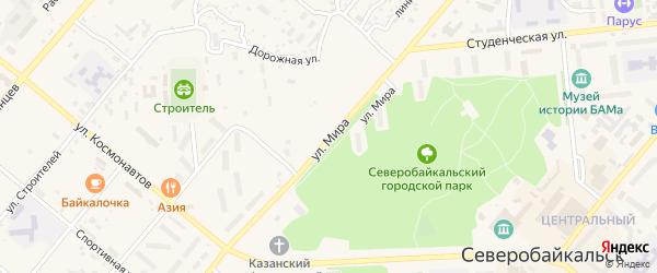 Улица Мира на карте Северобайкальска с номерами домов