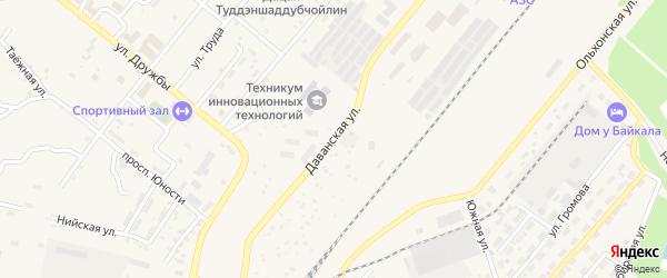 Даванская улица на карте Северобайкальска с номерами домов