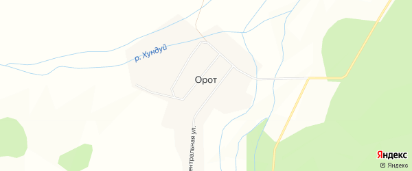 Карта улуса Орот в Бурятии с улицами и номерами домов