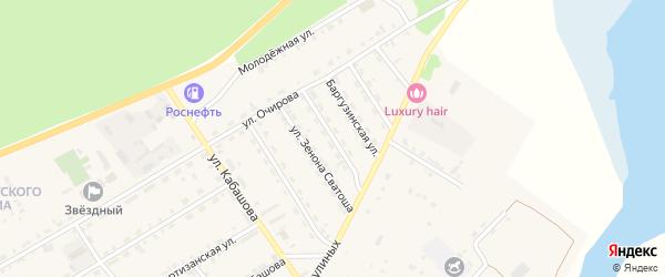 Улица Петра Морокова на карте села Баргузина с номерами домов
